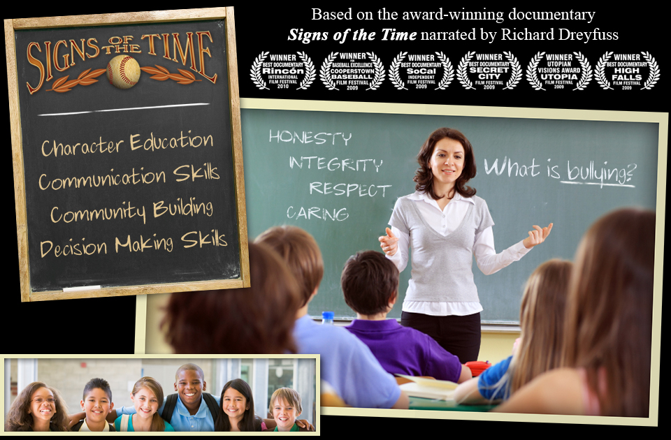 Signs of the Time Activities: Character Education, Communication Skills, Community Building, & Decision Making Skills. Click to view official trailer.